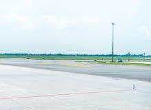 Landingsbaan in luchthaven Royalty-vrije Stock Afbeeldingen