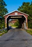 Landis-Tal-überdachte Brücke Stockbilder