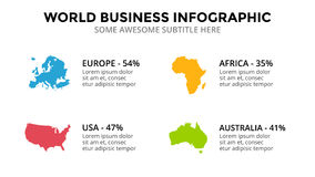 Landkarte infographic Marketing-Darstellung des globalen Geschäfts Welttransportdaten Wirtschaftliche Statistik Lizenzfreies Stockfoto