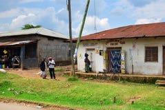 Landleben in Uganda, Afrika Lizenzfreies Stockbild