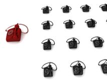 Landline phone sets Stock Image