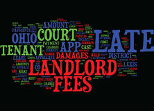 Landlord S Corner Late Fees In Ohio Text Background Word Cloud Concept Royalty Free Stock Photo