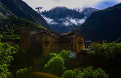 Landlords Castle. This castle is located in Sichuan province, China. The Qing Dynasty founded it in 1718, it was the political center of the territory under the Royalty Free Stock Image