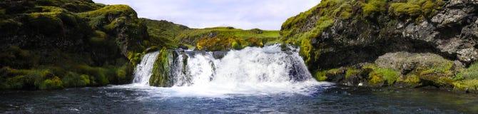 landmannalaugar瀑布 库存图片