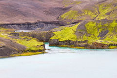 landmannalaugar的冰岛 库存图片
