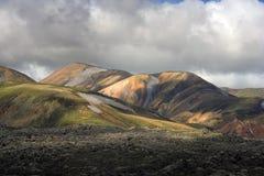 landmannalaugar的小山 免版税图库摄影