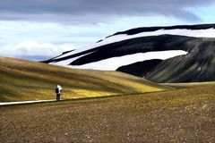 Landmannalaugar风景在冰岛夏天 免版税库存图片