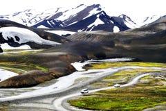 Landmannalaugar风景在夏天 库存照片