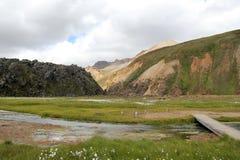 Landmannalaugar风景,冰岛 免版税库存图片