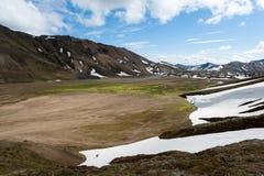 Landmannalaugar é um lugar na natureza Reserv de Fjallabak Imagens de Stock
