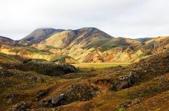Landmannalaugar, гористые местности Исландия, Европа Стоковая Фотография