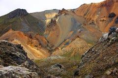 Landmannalaugar, Исландия, Euurope Стоковое фото RF