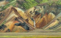 在Landmannalaugar的多彩多姿的山, 免版税库存照片