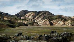 Landmannalaugar - Amazing Landscape in Iceland. Multicolored rhyolite mountains of amazing Landscape Landmannalaugar in Iceland royalty free stock photos