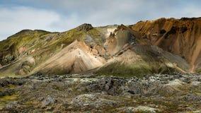 Landmannalaugar - Amazing Landscape in Iceland. Multicolored rhyolite mountains of amazing Landscape Landmannalaugar in Iceland royalty free stock photo