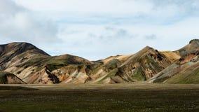 Landmannalaugar - Amazing Landscape in Iceland. Multicolored rhyolite mountains of amazing Landscape Landmannalaugar in Iceland royalty free stock photography