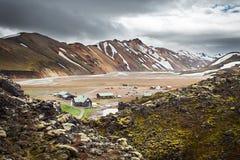 Landmannalaugar Camping, Iceland Royalty Free Stock Image