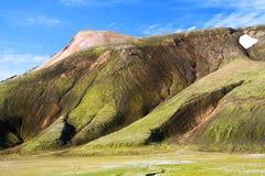 Landmannalaugar a coloré des montagnes d'arc-en-ciel, Islande Images stock