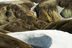 Landmannalaugar a coloré des montagnes d'arc-en-ciel, Islande Image libre de droits