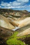 Landmannalaugar colored rainbow mountains, Iceland. Southern Europe royalty free stock photography