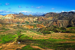 Landmannalaugar colorful mountains landscape Stock Photo