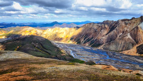 Landmannalaugar colorful mountains landscape view Royalty Free Stock Photography