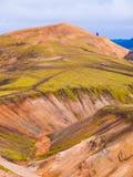 Landmannalaugar colorful rainbow mountains Stock Image
