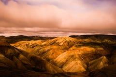 Landmannalaugar colorful rainbow mountains Stock Images