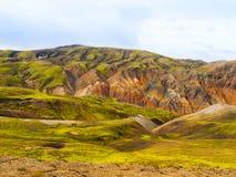 Landmannalaugar colorful rainbow mountains Stock Photography