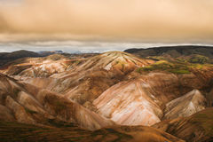 Landmannalaugar colorful rainbow mountains Stock Photos
