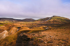 Landmannalaugar colorful rainbow mountains Royalty Free Stock Image
