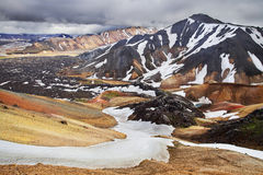 Landmannalaugar, colour mountains of Iceland Royalty Free Stock Images