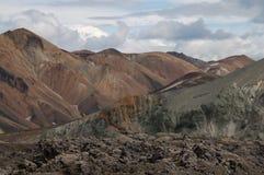 Landmannalaugar en Islandia foto de archivo libre de regalías
