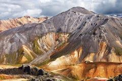 Landmannalaugar Fjallabak rezerwata przyrody centrala Iceland Fotografia Stock