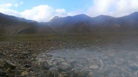 Landmannalaugar geotermiska vårar lager videofilmer