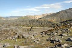 Landmannalaugar hills great panorama, Iceland Stock Photography
