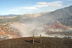 Landmannalaugar hills great panorama, Iceland Royalty Free Stock Photography