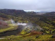 Landmannalaugar, Hooglanden van IJsland Royalty-vrije Stock Afbeeldingen