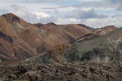 Landmannalaugar in Iceland. Popular area in Iceland looking like a moonscape Royalty Free Stock Photo