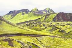 landmannalaugar iceland fotografering för bildbyråer