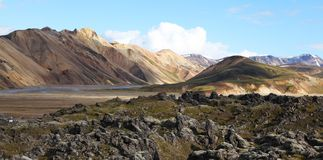 Landmannalaugar in Iceland royalty free stock images