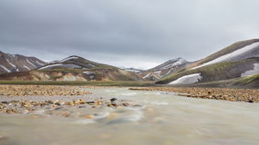 Landmannalaugar, Iceland stock video footage