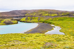 Landmannalaugar, Iceland. Landmannalaugar, a popular destination for tourists traveling in Iceland Royalty Free Stock Photography