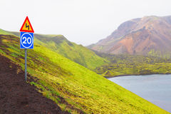 Landmannalaugar, Iceland. Landmannalaugar, a popular destination for tourists traveling in Iceland Stock Photography