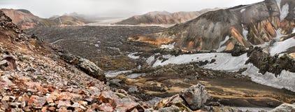 Landmannalaugar krajobraz, Iceland Zdjęcie Royalty Free