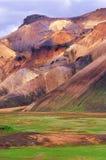 Landmannalaugar landscape royalty free stock photos
