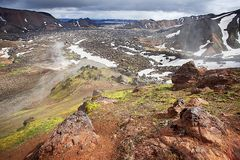 Landmannalaugar, montagne di colore dell'Islanda Immagini Stock