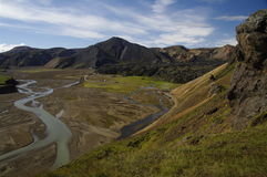 Landmannalaugar, montagnes, Islande Images stock
