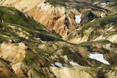 Landmannalaugar mountains, Iceland. Landmannalaugar colored mountains, Highlands, Iceland stock photos