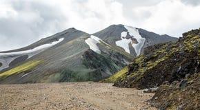 Landmannalaugar ongelooflijk landschap in IJsland Royalty-vrije Stock Foto